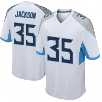 Men's Chris Jackson Tennessee Titans Game White Jersey
