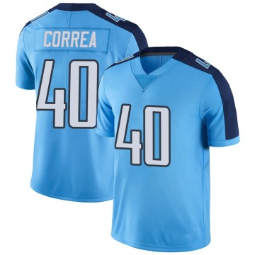 Men's Kamalei Correa Tennessee Titans Limited Light Blue Color Rush Jersey