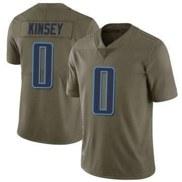 Men's Mason Kinsey Tennessee Titans Limited Green 2017 Salute to Service Jersey