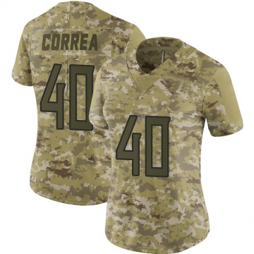 Women's Kamalei Correa Tennessee Titans Limited Camo 2018 Salute to Service Jersey