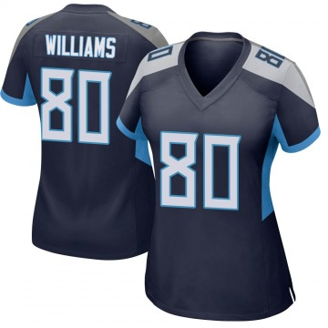 Women's Kyle Williams Tennessee Titans Game Navy Jersey