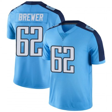 Youth Aaron Brewer Tennessee Titans Limited Light Blue Color Rush Jersey