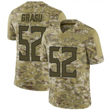 Youth Hroniss Grasu Tennessee Titans Limited Camo 2018 Salute to Service Jersey