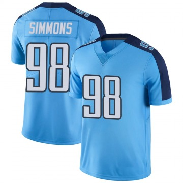 Youth Jeffery Simmons Tennessee Titans Limited Light Blue Color Rush Jersey